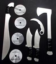 Aluminum Tomahawk Aluminum Training Sword Knife Karambit w Instruction DVD Set