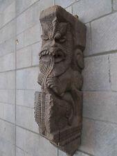 Element d'architecture : Etai Léoniforme en Teck , Inde du Sud XVIII°
