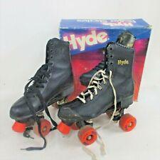 Vintage HYDE Roller Skates Men's Size 6 Black Original Box Orange Wheels (JBC