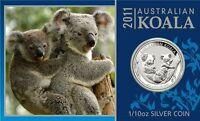 Koala 2011 10ct. 1/10 Unze Silber im original Blister Card ST / BU