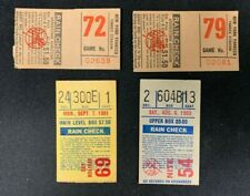 EARLY 1980S VINTAGE ASSORTED NEW YORK YANKEES BASEBALL GAME TICKET STUBS LOT (4)