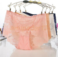 New Women Lace Underwear Boxers Shorts Panties Briefs Bikini Knickers Underpants