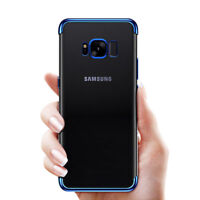 For Samsung Galaxy S9 Blue Slim Protective Shockproof Clear Case Cover