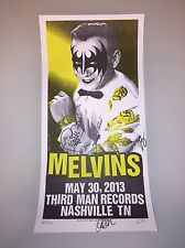 Melvins Poster Print Original Third man Vault Autographed Signed Record