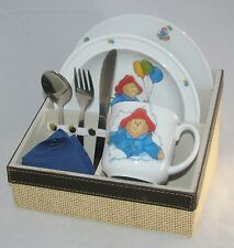 Reutter Children's Porcelain Lunch Set in Case Plate Cup & Bowl PADDINGTON BEAR