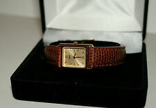 Cross Deco Style Womens Watch Classic Gold Tone Dial Brown New MiB $300 Value