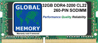 32GB (1x32GB) DDR4 3200MHz PC4-25600 260-PIN SODIMM MEMORY FOR LAPTOPS/NOTEBOOKS
