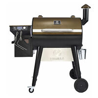 Z GRILLS ZPG-7002F 8 in 1 BBQ Pellet Grill Smoker with Weather Cover, Bronze
