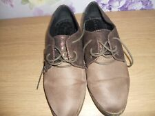UNBRANDED BROWN FAUX SUEDE LACE UP FRONT SHOES SIZE 6