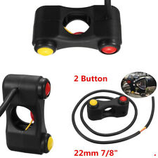 """Modify 2-Button Switches Assembly For Race Motorcycle Handlebar Mount 22mm 7/8"""""""
