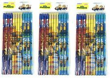 36pc New Minions School  Pencils w/erasers for Party Goody Gift Bag
