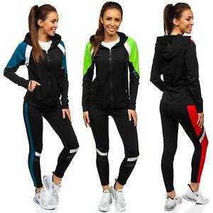 Trainingsanzug Jogginganzug Fitness Hose Kapuzenpullover Damen Mix BOLF Basic
