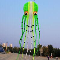 15m New POWER Emerald green 3D parafoil Octopus kite Factory Outlet softwarekite