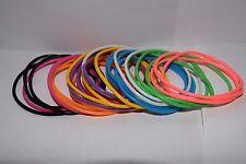 Jelly Rubber Bangle Bracelet Gummy Multi Color Set Pack Lot 30 80s Style Us