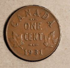 1931 Canada Penny - Nice Semi Key Date - S-180