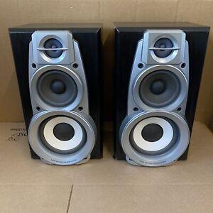Technics SB-DV 280 - Speakers 120 watt 3 way Stereo Hifi Silver bi-wireable