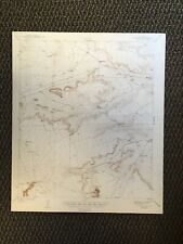 Vintage USGS Tepee Butte Texas 1943 Topographic Map