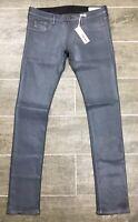 Diesel Jeans Livier RU807 Livier Super Slim Stretch Jegging Low Black Coated NWT