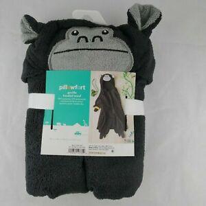 Pillowfort Children's Hooded Bath Towel  Gorilla 30 in X 50 in
