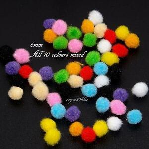 POM POMS Craft Topics Quality 6mm Decorative Colours Cardmaking School Projects