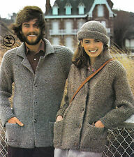 Men's and Ladies jacket and hat knitting pattern  0079