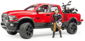 Bruder Toys RAM 2500 Power Wagon w/ Scrambler Ducati Desert Sled & Driver 02502