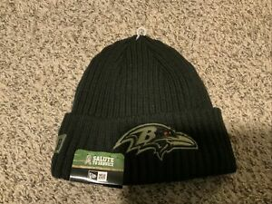 New Era Baltimore Ravens 2020 Salute to Service Knit Hat NWT STS Men's