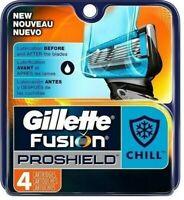 4 Gillette Fusion Proshield Chill Razor Blades Refill Cartridge fit Power Shaver