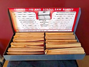 Vintage Hardware Store Olson Bros Jig & Scroll Saw Blades 68 Packs (Lot of 408)