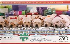 Labrador Retriever Lab Holiday Puppies Panoramic Jigsaw Puzzle 750 pieces e