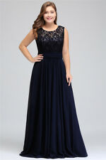 Evening Long Prom Dress Formal Party Gown A-line Bridesmaid Dresses Plus Size