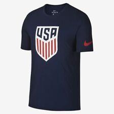 nw~Nike Usa Crest Tee jersey Soccer Top Team graphic Shirt gym running~Men sz Xl