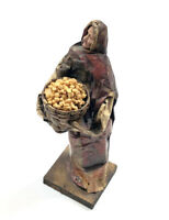 Vintage Mexican Folk Art Paper Mache Woman Old Lady Decor Collectible Stand