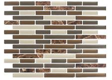Self adhesive Mosaic Tile Brown Marble Sticker Bathroom Kitchen backsplash