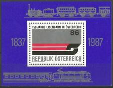 Austria 1987 MNH - Transport - 150th Anniversary Austrian Railways - Minisheet