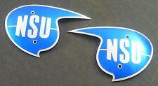 Tankembleme - NSU MAX - NSU LUX - originalgetreuer Farbton und Biegung - Paar