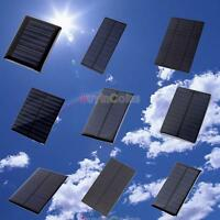 New 5V 0.2/0.5/1/1.2/1.5W Solar Panel Module for Cell Charger Toy/DIY DQCA