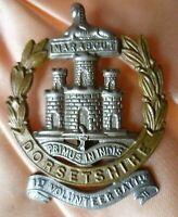 1st Volunteers Battalion Dorsetshire Regiment Cap Badge Bi-Metal ANTIQUE Origina