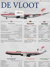 MARTINAIR HOLLAND FLEET CHART DE VLOOT 2 PAGES 747-MD-11CF-B767-300ER A310-203C
