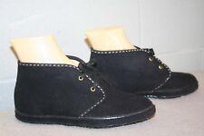 5 NOS Vtg 60s 70s MOD GoGo Moccasin ANKLE BOOT LaCrosse Black SUEDE BOOTIE Shoe