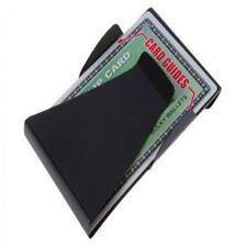 Double Sided Black Slim Wallet Credit Card Money Clip ID Holder Stainless Steel