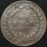1860 | Buenos Aires 2 Reales | Copper | Coins | KM Coins