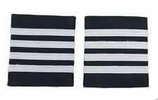 More details for pilot captain, silver strips epaulettes, airline, cabin crew 4 bars r1739-04