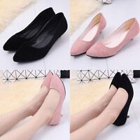 New Women's Fashion Casual Flat Slip-on Shoes Low Heel Pointed Toe Shoes  Gift