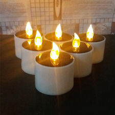 Yellow Solar Power LED Candles Flameless Electronic Solar LED Tea Lights zp