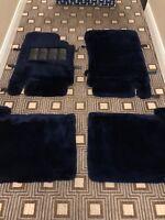 Rolls-Royce Bentley 2000-03 Blue Lambswool Sheepskin Floor Mats UB89021 OEM NOS
