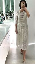 Zara White Lace Dress with sleeves - XS