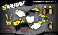 SCRUB Suzuki graphics decals kit RM 85 2002 - 2018 stickers motocross '02 - '18