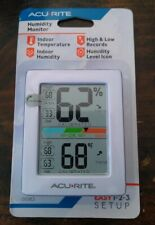 Acurite Indoor Digital Thermometer Humidity Monitor Great For Incubator 01083