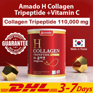 Amado H Collagen Tripeptide Vitamin C Antioxidant Whitening Drink Red DHL 110g